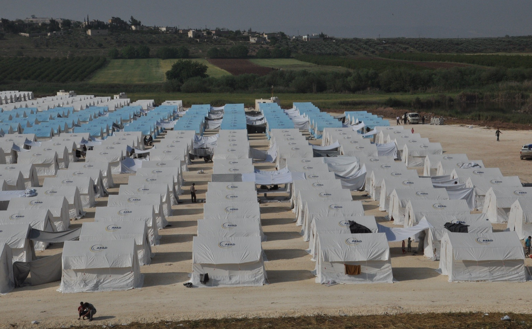 A refugee camp built by Turkeyu2019s Disaster and Emergency Management Authority (AFAD) in Afrinu2019s Muhammadiyah village.