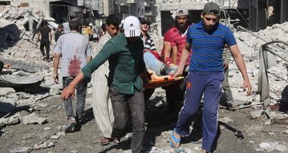 Russian jets strike Idlib market, killing 50 civilians