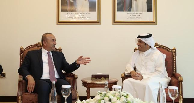 جاوش أوغلو يبحث مع نظيره القطري العلاقات الثنائية وقضايا المنطقة