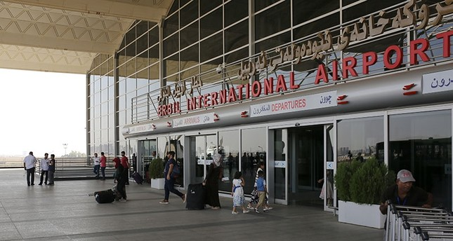 This file photo dated Sep. 30, 2017 shows the entrance of Irbil International Airport in Kurdistan Regional Government (KRG) in northern Iraq. (AA Photo)