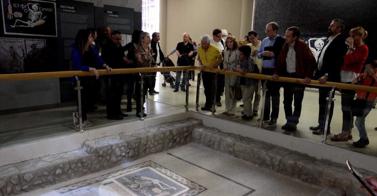 EU ambassadors to Turkey also visited Hatay Archeology Museum during their visit to the southern province, April 14, 2019.
