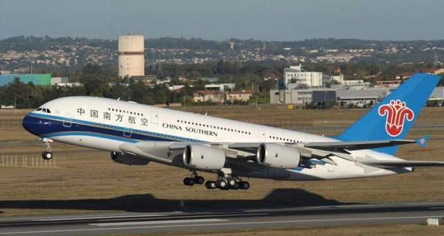 An Airbus 380 belonging to China Southern Airlines. (DHA Photo)