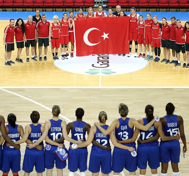 Turkey, France women's basketball teams aim to make nations proud after hard days