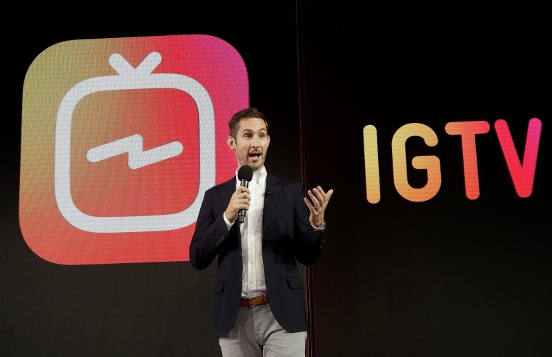 In this Tuesday, June 19, 2018, photo Kevin Systrom, CEO and co-founder of Instagram, prepares for Wednesday's announcement about IGTV in San Francisco, U.S. (AP Photo)