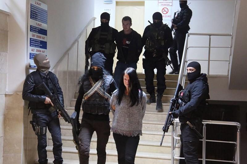 Czech YPG terrorists Marketa Vselichova and Miroslav Farkas arrested in u015eu0131rnak, southeastern Turkey. November 2016. (File Photo)