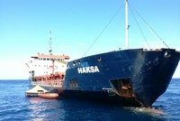 Turkish cargo ship sinking off Croatian coast