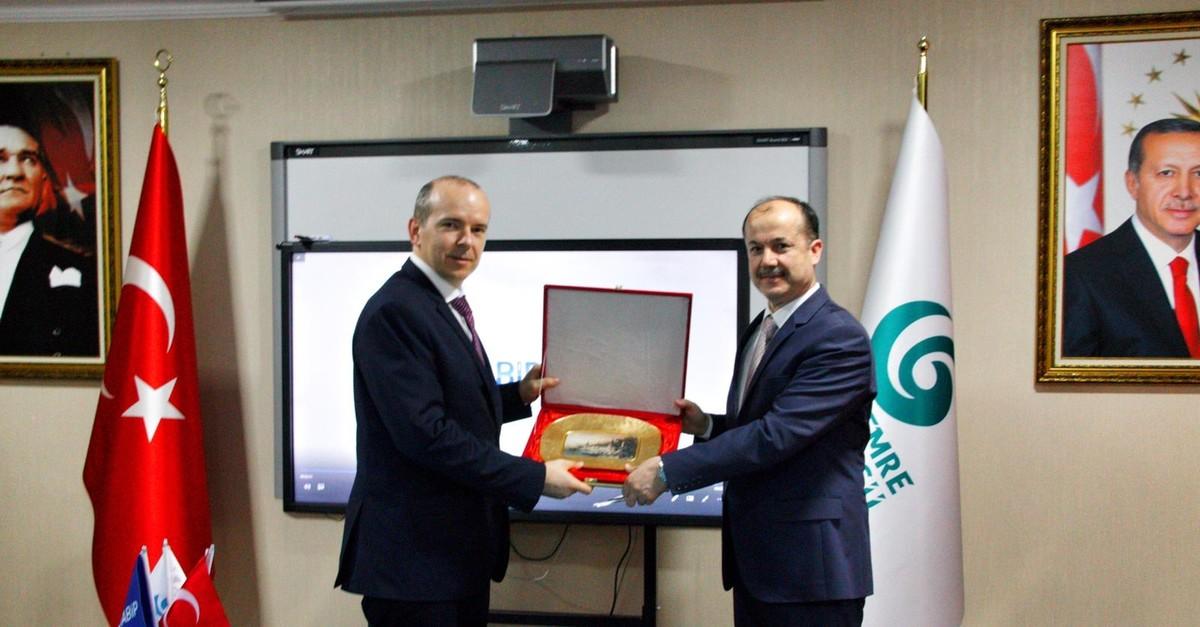 ILOT Director Pawel Stezycki (L) visits YEE President u015eeref Ateu015f in Ankara.