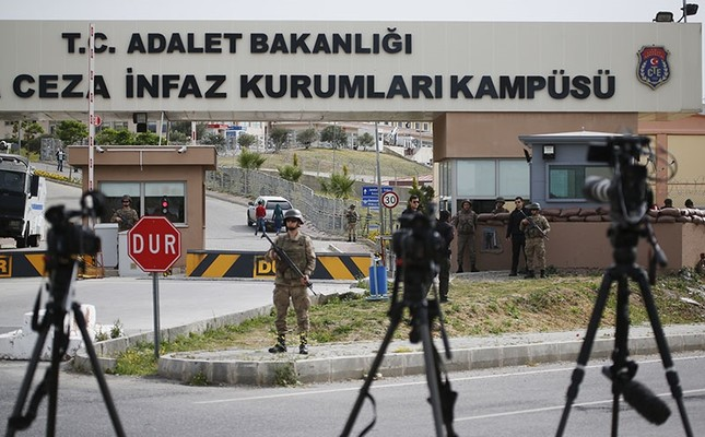 Cameras of members of the media are placed across from the prison complex in Aliağa, Izmir province, western Turkey, where jailed pastor Andrew Craig Brunson appeared on his trial at a court inside the complex, Monday, April 16, 2018. (AP Photo)