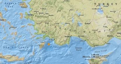 В Средиземном море произошло сильное землетрясение