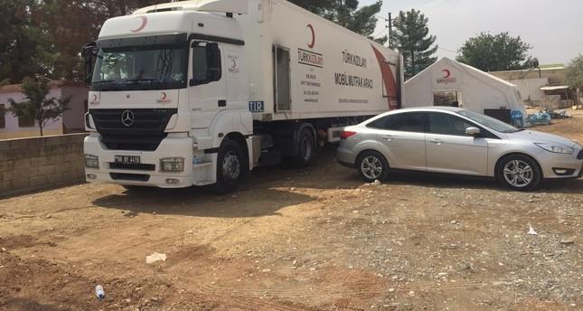 Turkish aid convoy enters Syrian town of Jarablus