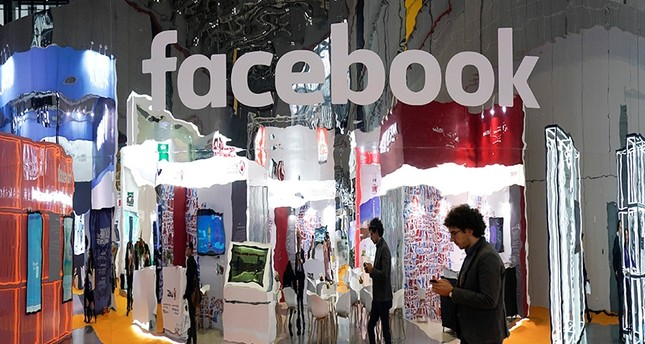 A Facebook sign at the National Exhibition and Convention Center in Shanghai, China Nov. 5, 2018. (Reuters Photo)