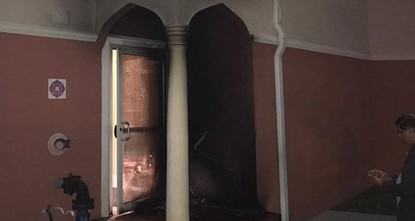 pAn intentionally set fire damaged a prayer hall at a Tampa-area mosque early Friday, investigators said./p