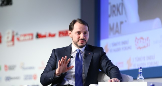 Energy Minister Albayrak speaks at the first Energy and Mining Forum, announcing energy projects that will be carried out in the near future, Istanbul, Feb. 22.