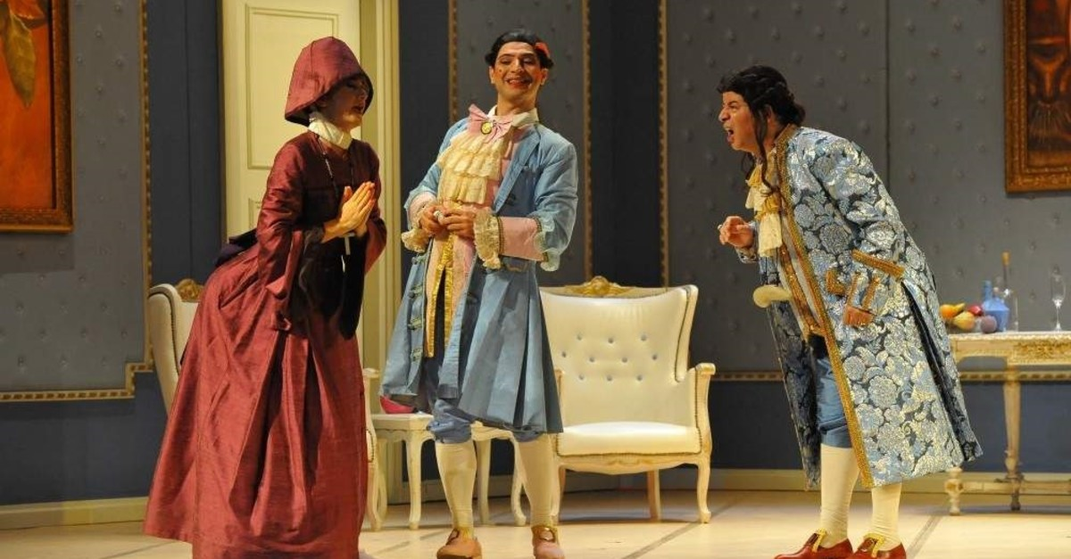A scene from ,Don Pasquale, opera. (AA Photo)
