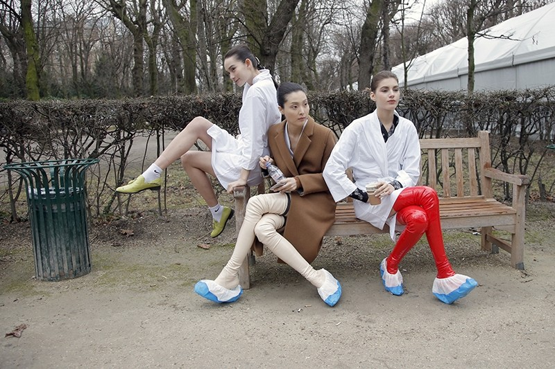 In this Jan.26 2015 file photo, models take a rest backstage after the Christian Dior's Spring-Summer 2015 Haute Couture fashion collection presented in Paris. (AP Photo)