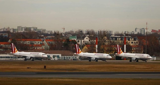Airplanes wait on the tarmac during a strike of cabin crew employees of German airline Germanwings called by German cabin crew union UFO at Tegel Airport, Berlin, Germany, Dec. 30, 2019. Reuters Photo