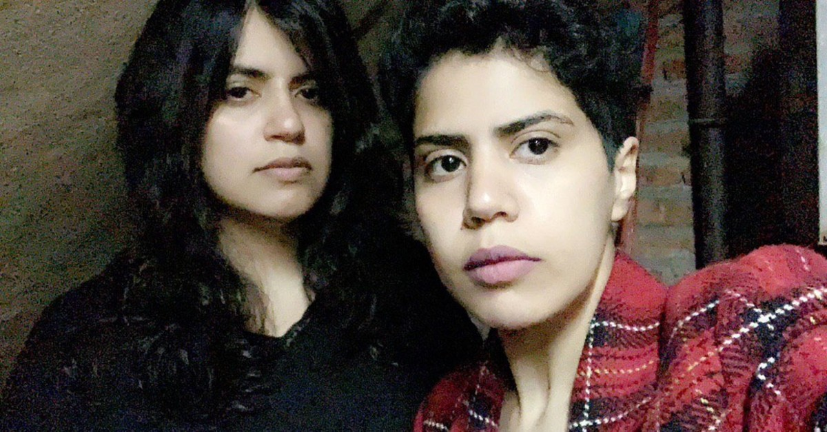 Photo of Saudi sisters Maha al-Subaie and Wafa al-Subaie shared on their Twitter account @GeorgiaSisters.