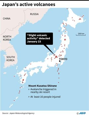 Mt. Kusatsu-Shirane eruption.