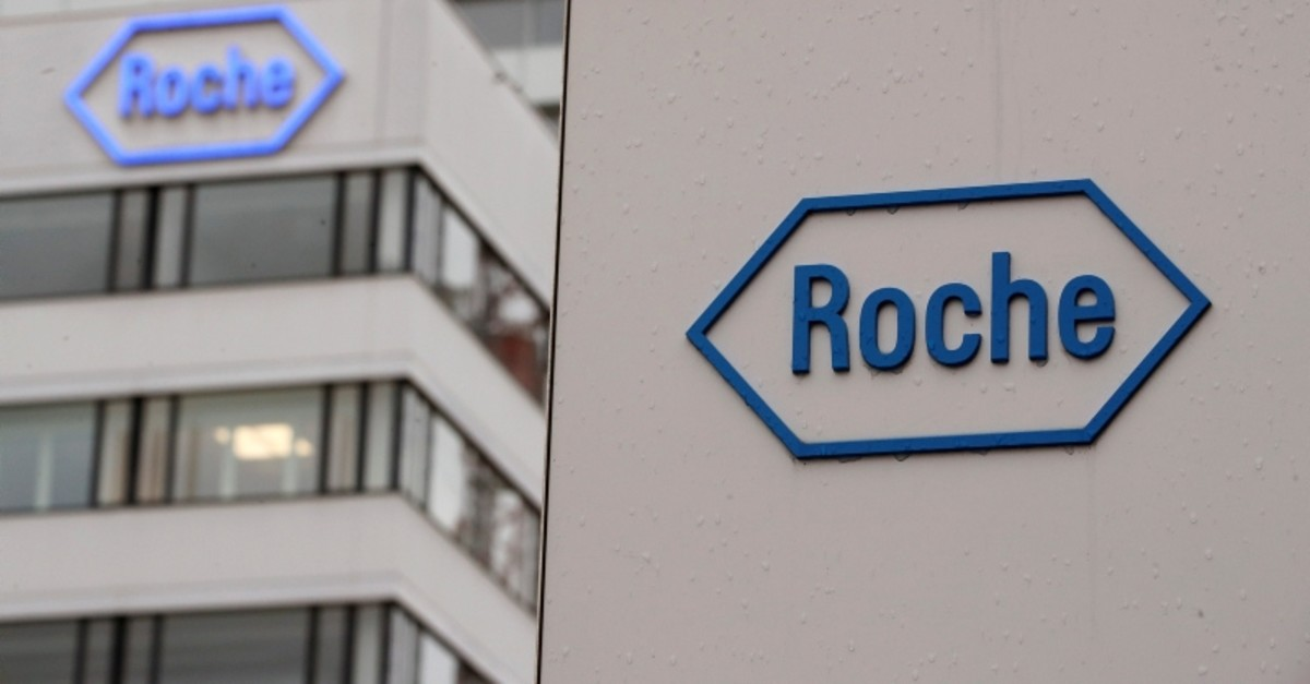 The logo of Swiss drugmaker Roche is seen at its headquarters in Basel, Switzerland (Reuters Photo)
