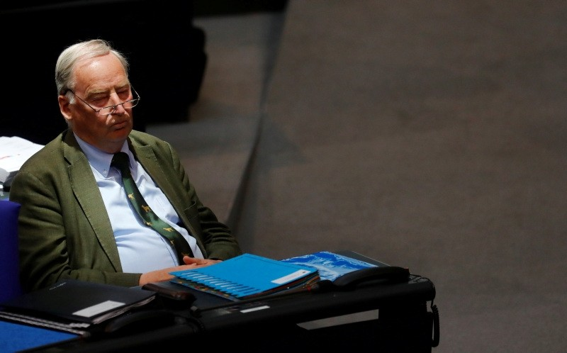 Alexander Gauland of the Anti-immigration party Alternative for Germany (AfD) attends the 2018 budget debate at the lower house of parliament Bundestag in Berlin, Germany, May 16, 2018. (Reuters Photo)
