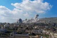 غارات روسية على بلدة دارة عزة بريف حلب الغربي