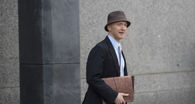 Carter Page arrives at the courthouse on the same day as a hearing regarding Michael Cohen at the United States District Court Southern District of New York, in New York City. (AFP Photo)