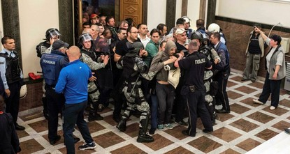 Macedonia, a small Balkan country, was hit by a major political crisis and violence after dozens of far-right protesters, mostly supporters of the country's dominant conservative party, invaded...