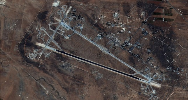 This Oct. 7, 2016 satellite image released by the U.S. Department of Defense shows Shayrat air base in Syria. (AP Photo)