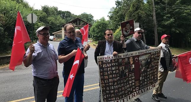 العشرات يتظاهرون أمام منزل غولن رغم رفض سلطات بنسلفانيا منحهم ترخيصاً