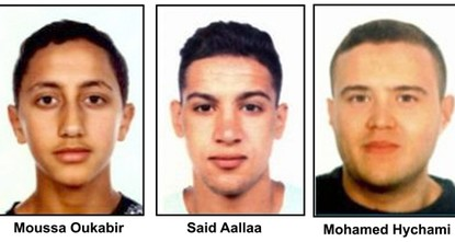 pSpanish police on Friday released the names of three Moroccan suspects in the deadly attacks in Spain's Catalonia region, shot dead overnight by security forces in the seaside resort of...