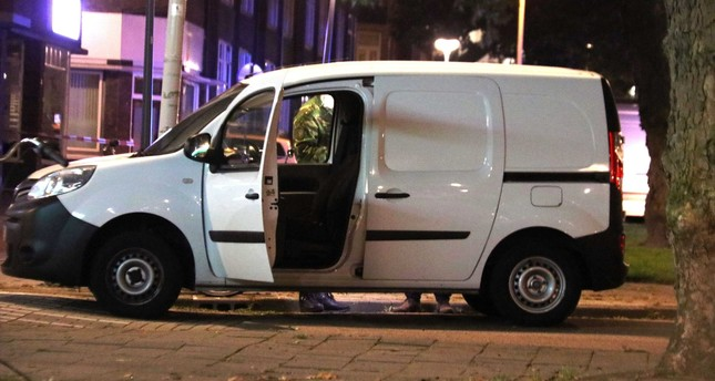 Police investigates a van with Spanish number plate packed with gas canisters near the concert venue Maassilo, after it was cancelled due to a terrorist threat, in Rotterdam, August 23, 2017. (EPA Photo)