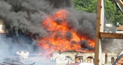 حريق في موقع لتصوير المسلسلات بمدينة إسطنبول