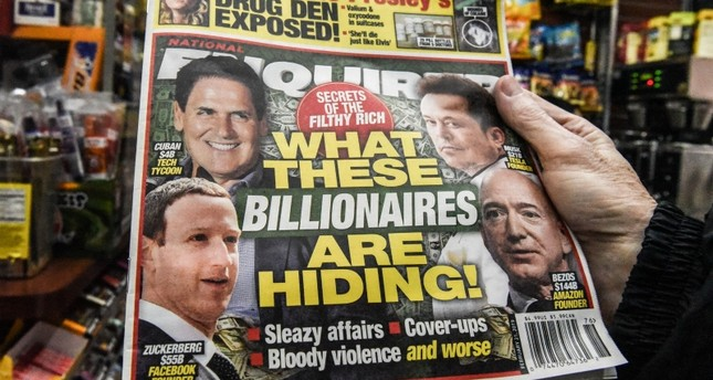 The National Enquirer is photographed at a convenience store on February 8, 2019 in New York City. (AFP Photo)