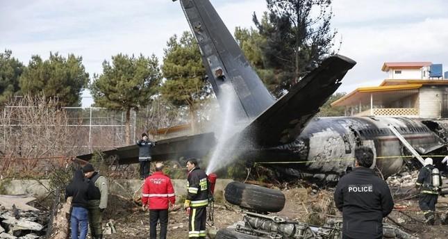 مصرع 16 شخصاً جراء تحطم طائرة شحن قرغيزية قرب طهران