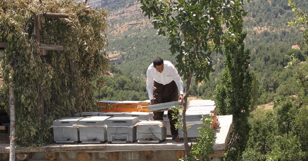 Beekeeping is one of the economic activities that residents of the Derecik district of southeastern Hakkari province conduct in their hometowns.