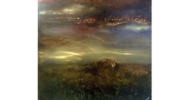 Khozema Alaaed, mixed media on canvas, 147 x 114cm.