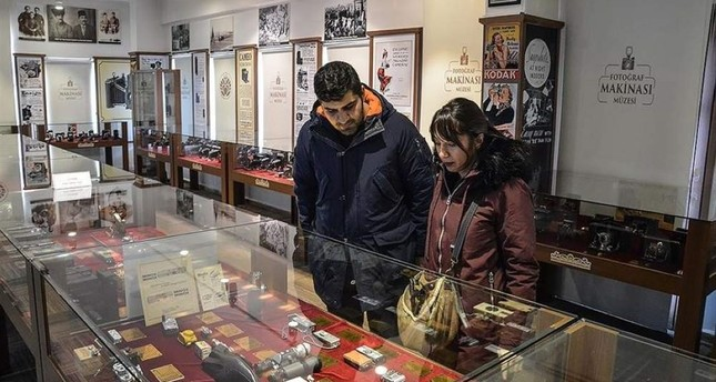 Vintage cameras of Malatya museum history's witnesses