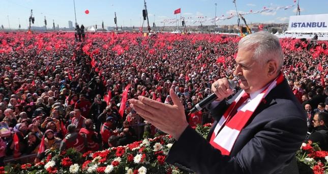 يلدريم يتعهد بجعل إسطنبول أكثر سعادة واستقرارا وأمنا