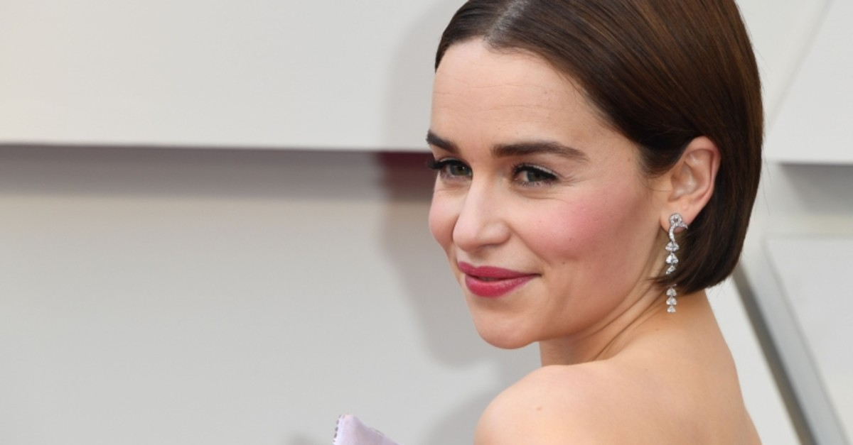 In this file photo taken on February 24, 2019 Emilia Clarke arrives for the 91st Annual Academy Awards at the Dolby Theatre in Hollywood, California. (AFP Photo)
