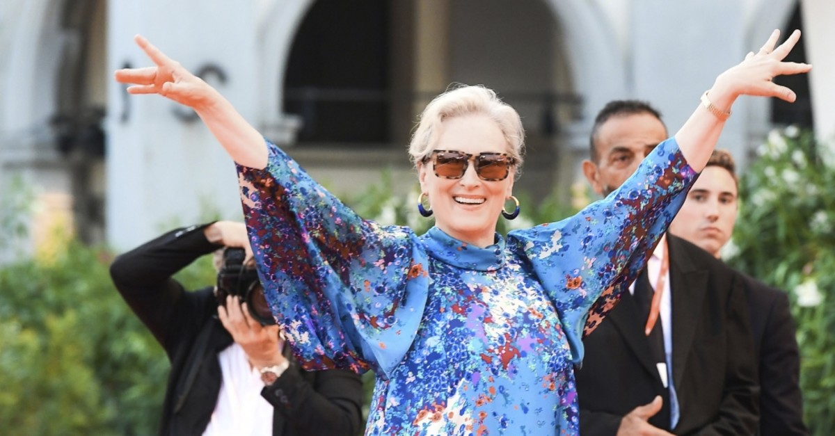 Meryl Streep at the screening of the film ,The Laundromat, on Sept. 1, 2019, as part of the 76th Venice Film Festival.