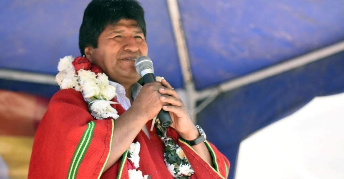 Bolivia's President Evo Morales speaks, Vila Vila, Oct. 27, 2019. (Reuters Photo)