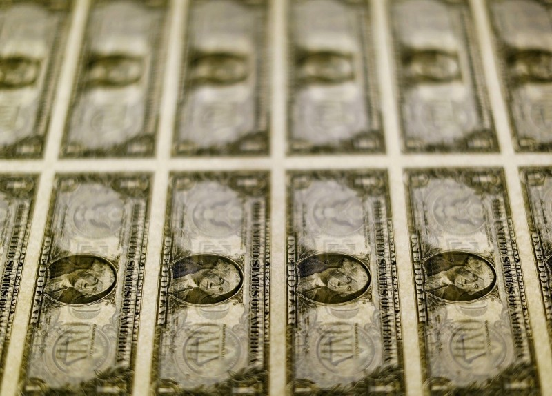 One U.S. dollar bills on a light table at the Bureau of Engraving and Printing in Washington, Nov. 14, 2014. (Reuters Photo)