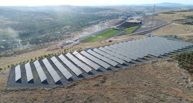 Solar panels on the campus of Hasan Kalyoncu University in Gaziantep. More institutions have turned to renewable energy as greenhouse gas emissions increase in Turkey.