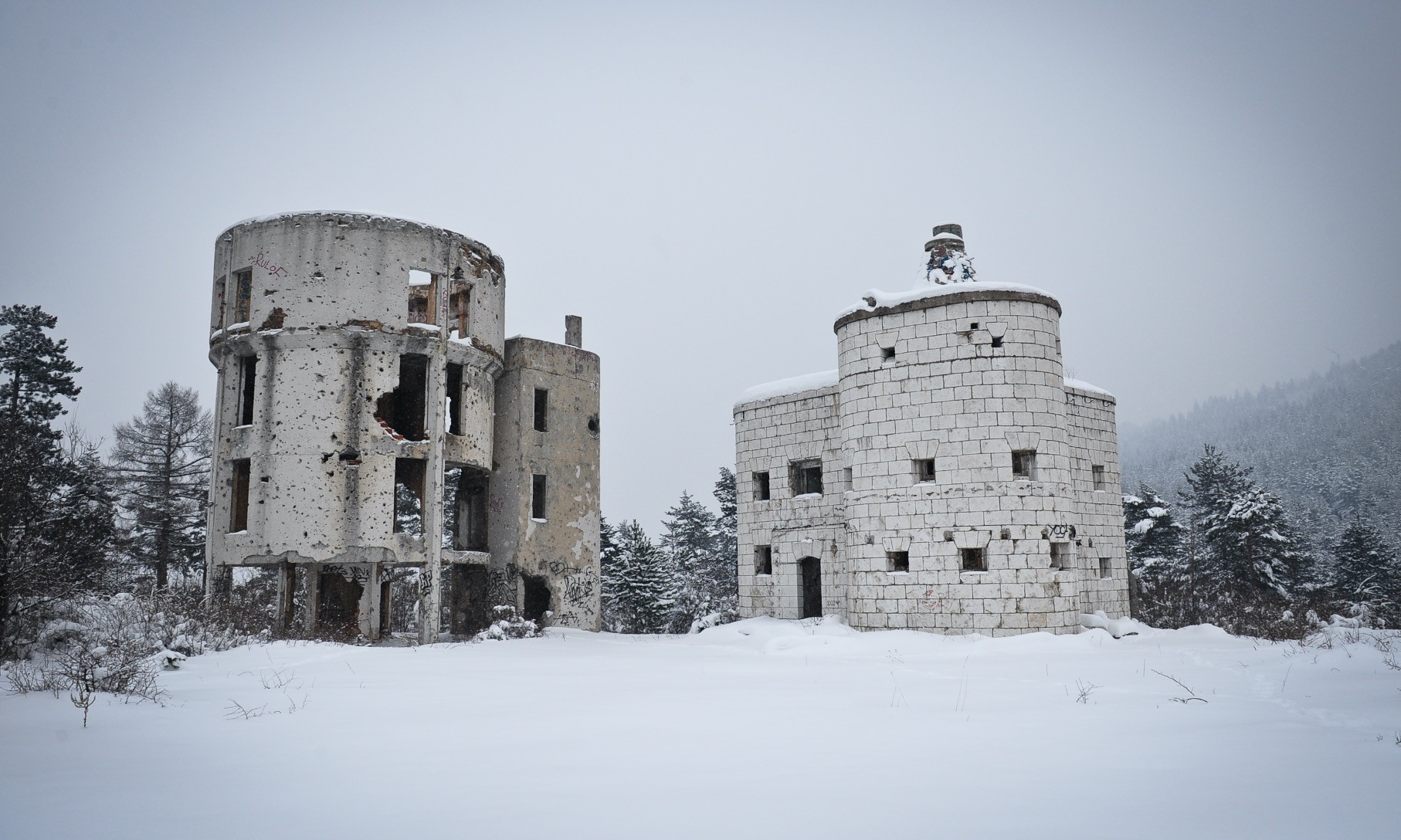 Colina Kapa Astronomical Observatory was once Bosniau2019s shining star in astronomy studies, but now, the building is empty, covered with bullet holes.