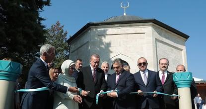 Erdoğan inaugurates Gül Baba Tomb in Budapest
