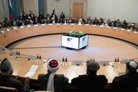 وفد سياسي أفغاني خلال مباحثات بالعاصمة الروسية موسكو (أسوشيتد برس)