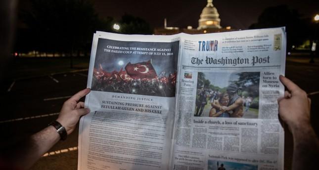 عدد صحيفة واشنطن بوست الذي يتضمن صفحة كاملة للتحذير من غولن