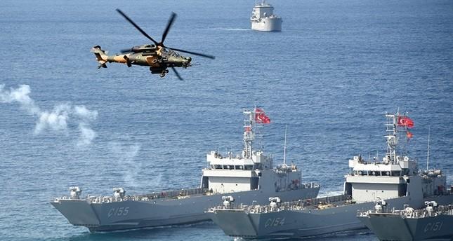 انتهاء مناورات الحوت الأزرق 2016 البحرية جنوبي تركيا