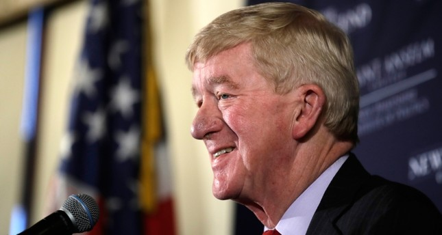 In this Friday, Feb. 15, 2019, file photo, former Massachusetts Gov. William Weld speaks during a New England Council Politics & Eggs breakfast in Bedford, N.H. (AP Photo)