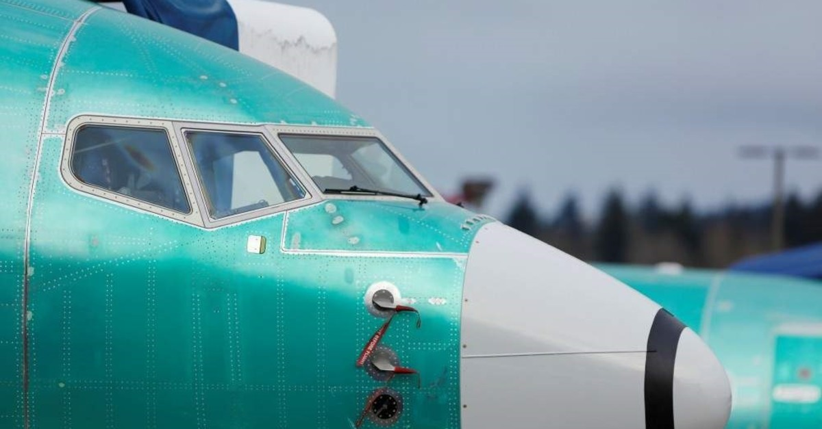 The nose of a Boeing 737 Max aircraft is pictured at a storage area at Boeing's 737 Max production facility in Renton, Dec. 16, 2019. (Reuters Photo)